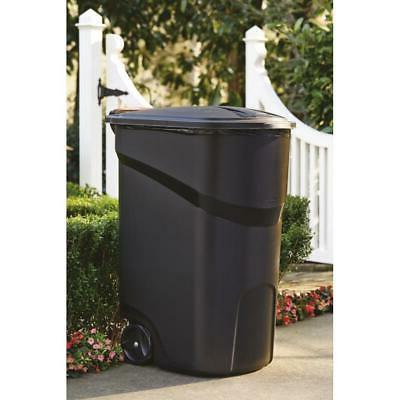 64 gallon large rolling trash can wheeled