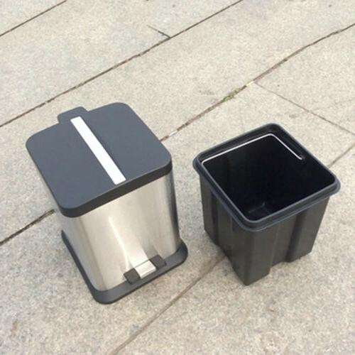 6L/1.6G Trash Can Kitchen Stainless Steel