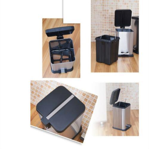 6L/1.6G Trash Kitchen Garbage Stainless Steel Foot