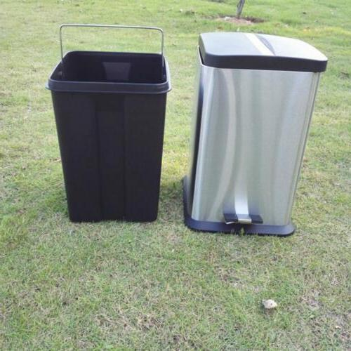 6L/1.6G Trash Can Modern Kitchen with Stainless