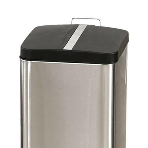 6L/1.6G Trash Can Modern Kitchen Stainless Foot