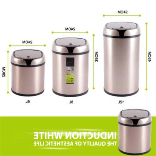 6L/8L Home Touchless Dustbin Automatic Bin