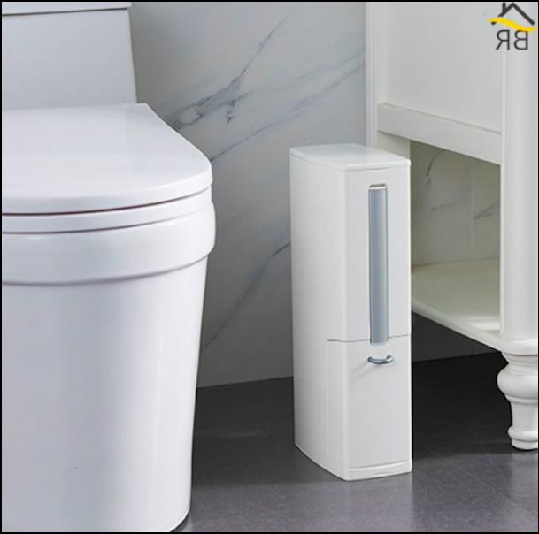 6l plastic trash can toilet ush set