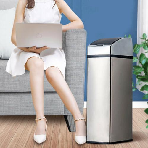 6L Touch-Free Sensor Trash Can Garbage