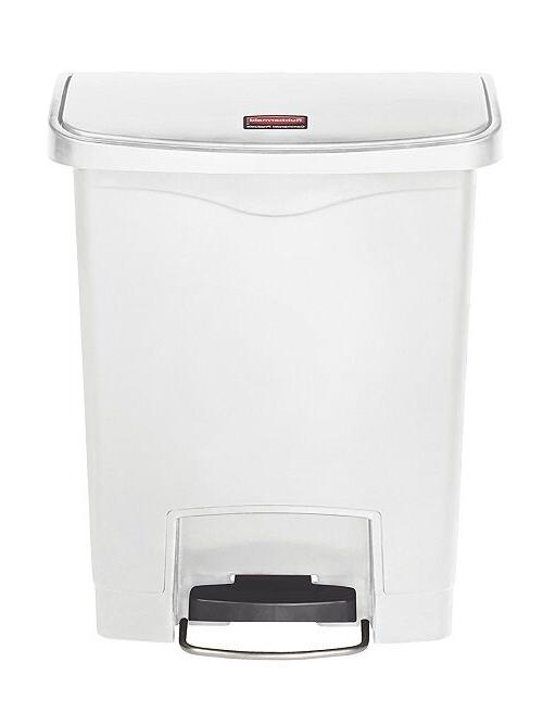 8-Gallon Can Garbage Kitchen Lid Home White Bin