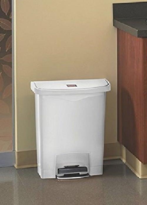 8-Gallon Garbage Step-On Slim Lid Home Bin