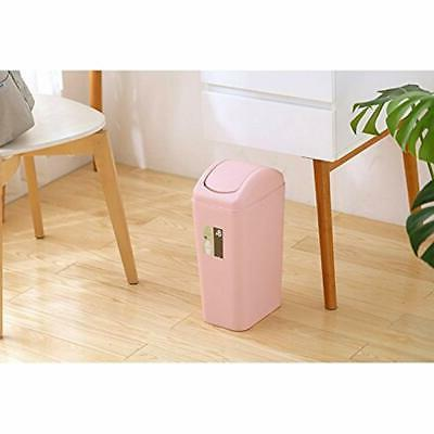 """8 Liter/2 Gallon Compact Plastic Can, Small Garbage Swing Lid, """""""