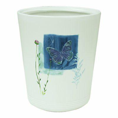 89399 indigo wildflower wastebasket garbage