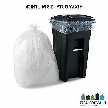 95-96 GALLON Garbage Liners 1.5 Heavy Duty Trash