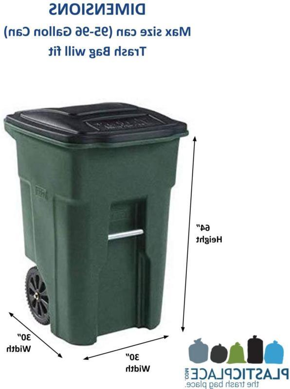 WHEELED TRASH Garbage Outdoor Bin 25 Count