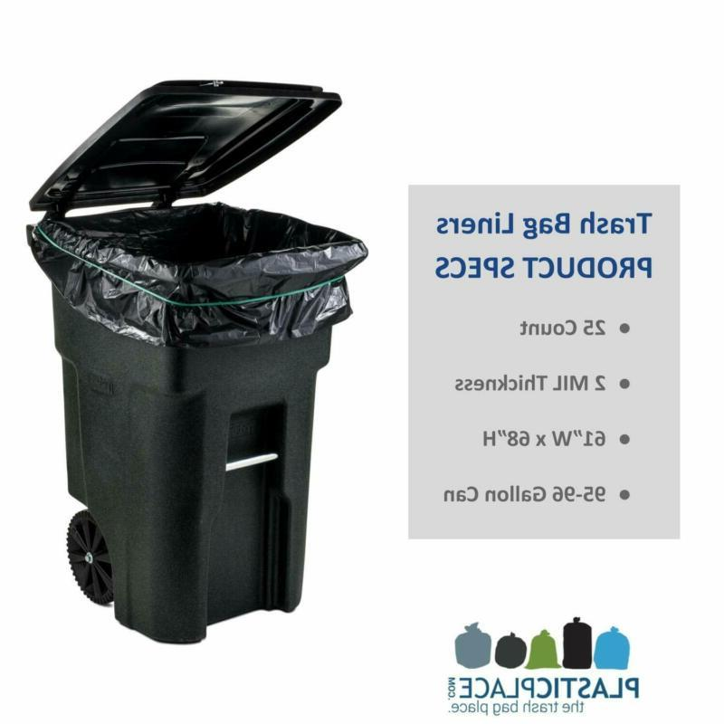 96 WHEELED TRASH CAN Outdoor Bin Count
