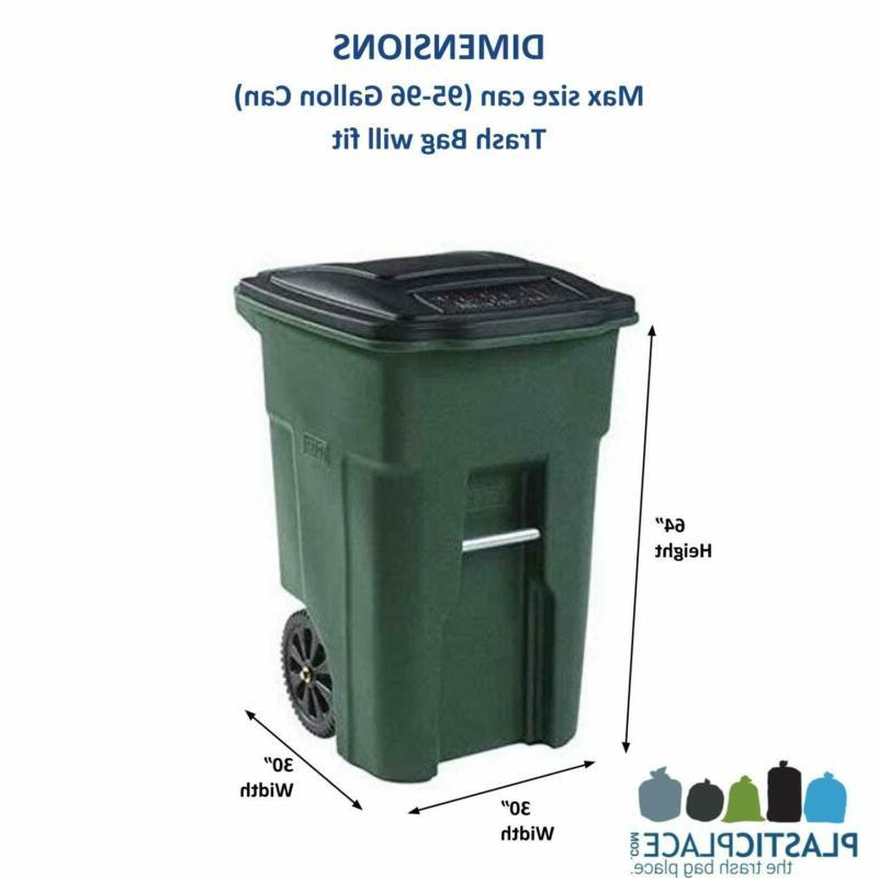 96 GALLON WHEELED CAN Lid Garbage Outdoor Waste Count