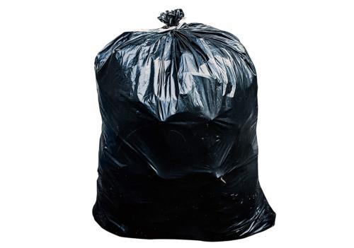 95 gal trash bags black 2 mil
