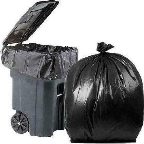 95 Gallon Black 2 Mil 61 10 Bags Case Heavy Duty Garbage Tra