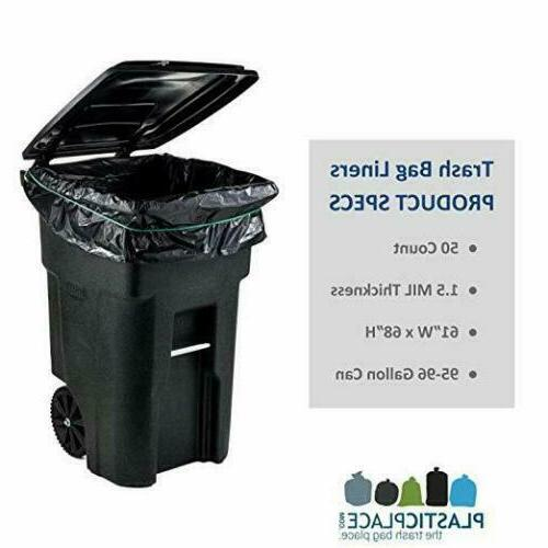 95 CAN Lid Garbage Container Outdoor Waste Wheel