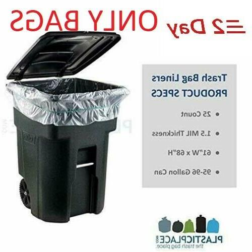 96 gallon wheeled trash can lid garbage