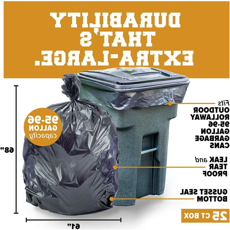 96 gallon trash can liners xl garbage