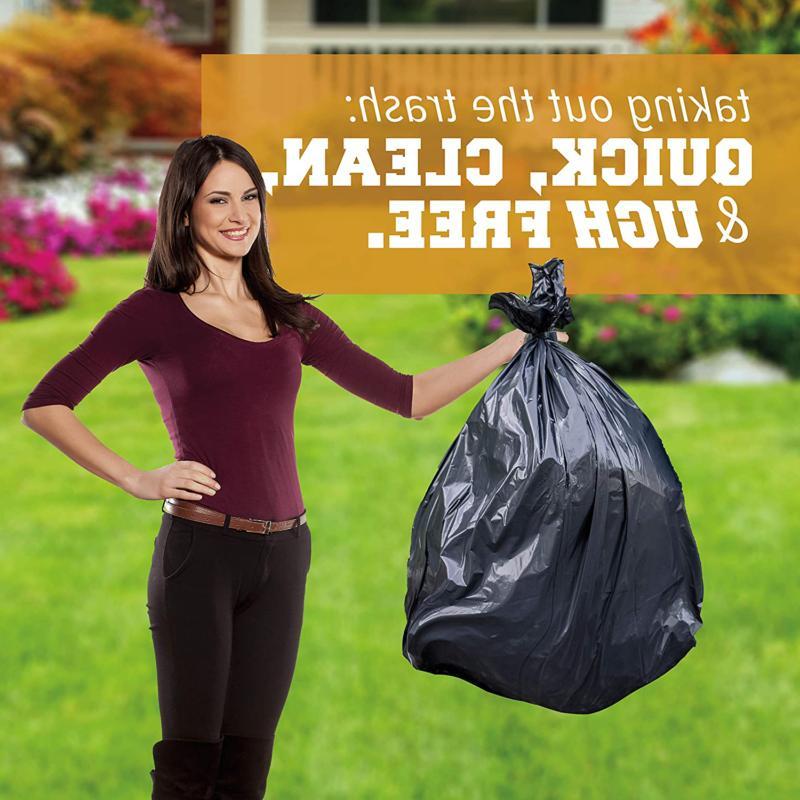 96 Liners Garbage Plastic Black