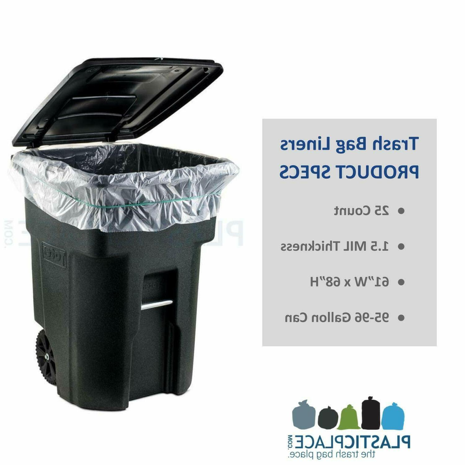 95-96 Garbage Liners 1.5 Mil Clear Heavy Duty