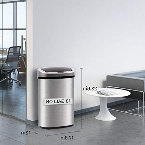 BestOffice Can Brushed Stainless Steel, 13