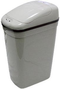 Motion Sensor Plastic Trash Can, Shape: Rectangle, Size 8.7