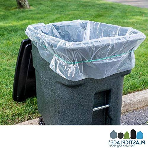 """Plasticplace Garbage Can Liners │ 1.5 MIL Duty Trash Bags 61"""" x"""
