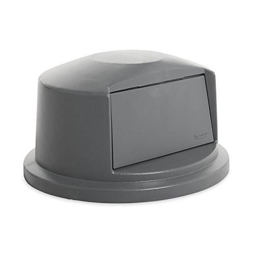 Rubbermaid Dome Door Lid for Waste/Utility Containers, Gray