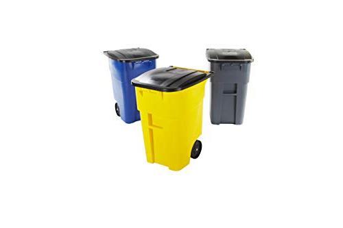 Rubbermaid Brute Heavy-Duty Wheeled Trash/Garbage Bin, 50-Gallon,