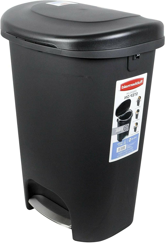 13 Gallon Step Plastic Can Kitchen Waste Basket w/