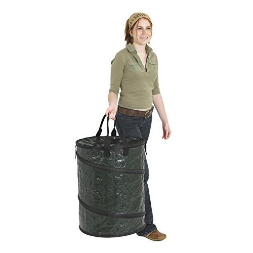 Stansport Collapsible Carry-All Trash Can, Green