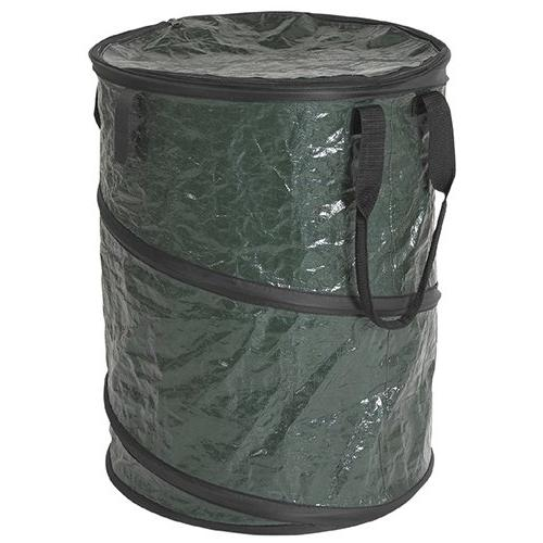 Stansport Collapsible Campsite Carry-All Trash Can, Green