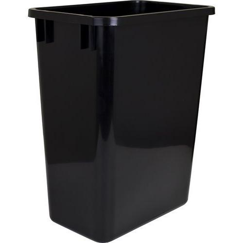 "Two 35-quart Plastic Waste Containers  9-7/16"" Wide X 14-1/2"