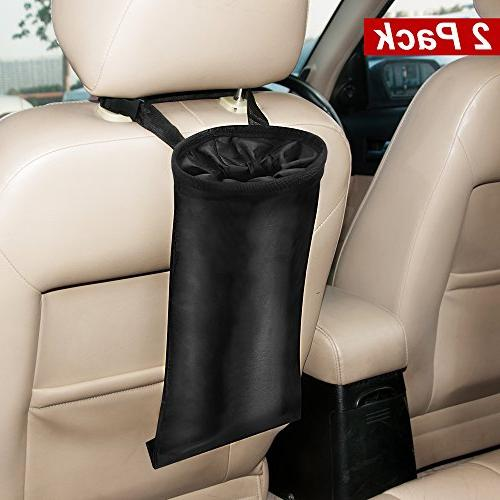 Washable Leakproof Eco-Friendly Seatback Hanging Garbage Bags,Rubbish Container,Storage Bags,Organizer Bag Car Trash Bags Pack of 2