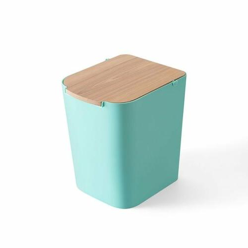 ABS Square Toilet Garbage Waste Wooden Cover