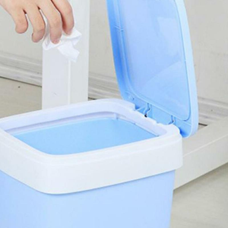 Automatic Garbage Bag Trash Can Home With Roll Bag