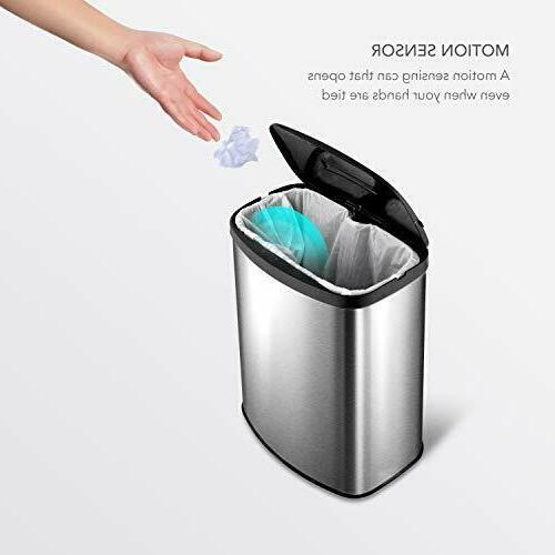 Automatic Garbage Sensor Steel Touchless Basura