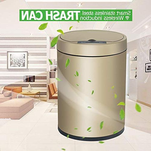 Starnearby 6L Automatic Touchless Trash Container, Garbage Can,