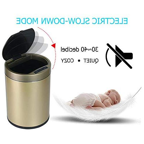 Starnearby Touchless Trash Can, Gold