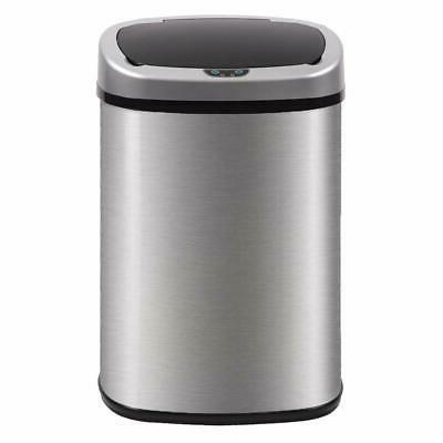 automatic kitchen trash can brushed stainless steel