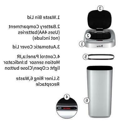 Automatic Sensor Trash Garbage Kitchen Waste Sliver