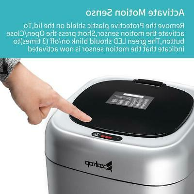 Automatic Trash Can Garbage Container Office Waste Baskets Sliver