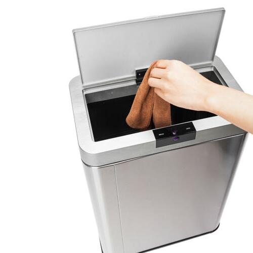 Automatic Touch-free 13 Gallon Stainless Kitchen Bin Garbage