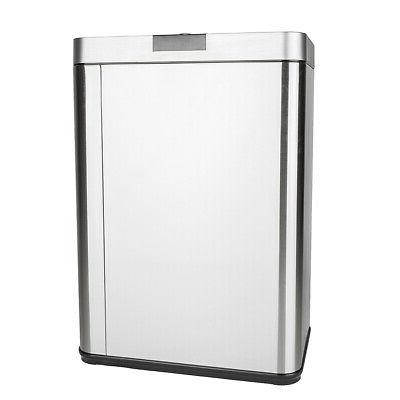 automatic stainless steel trash garbage can touch