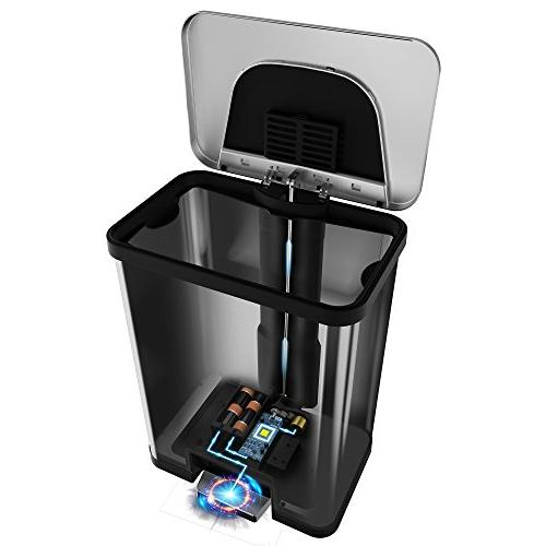 Itouchless Autostep Automatic Step Trash Can 49liter