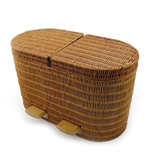 bamboo rattan office pedal