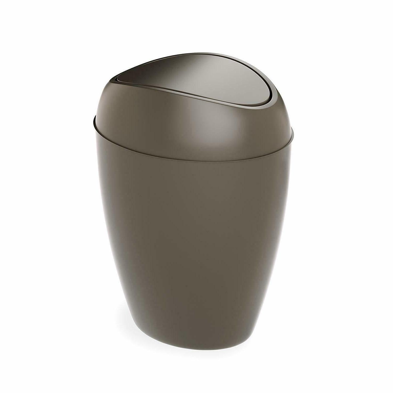 Bathroom Can Lid Plastic Garbage Office Home Bedroom