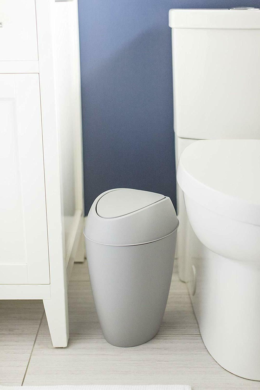 Bathroom Trash Can Lid Home Bedroom