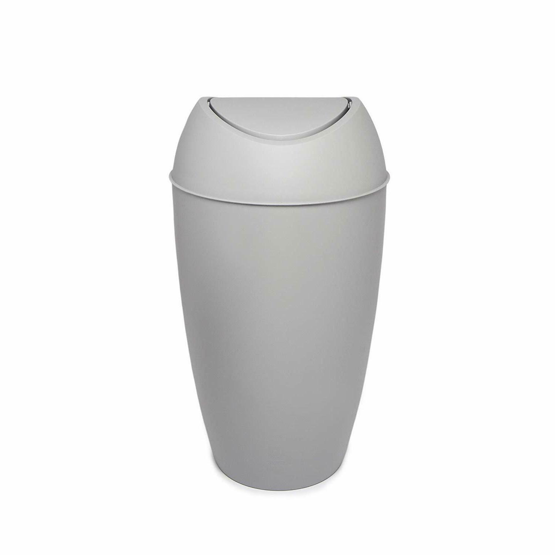 Bathroom Trash Can Lid Plastic Garbage Office Home Indoor