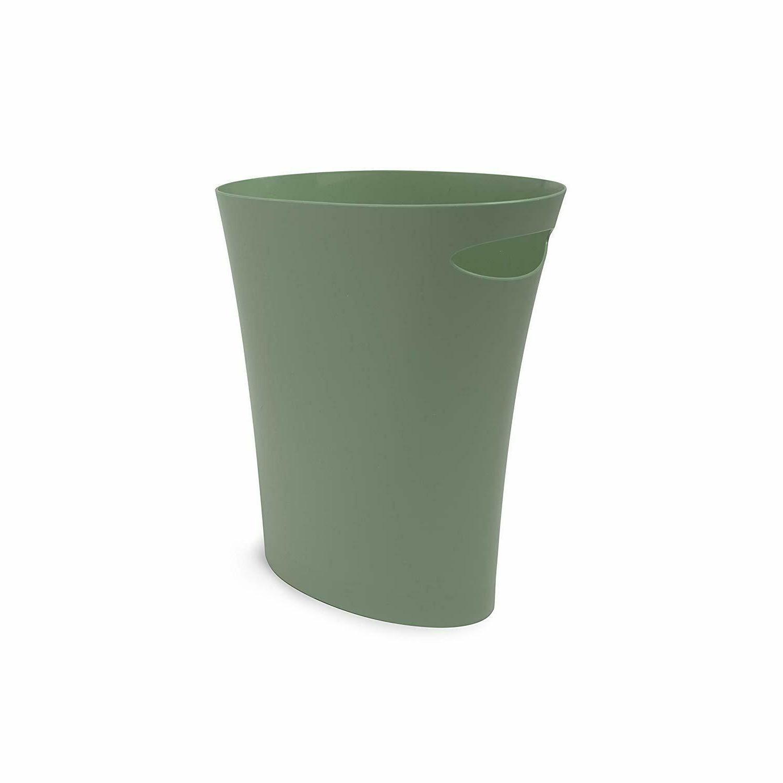 Bathroom Garbage Can Sleek Skinny Spruce Green