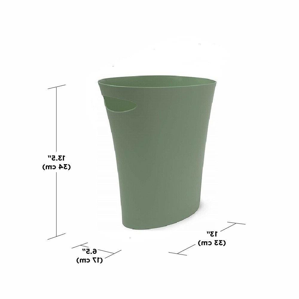Bathroom Garbage Sleek Spruce Plastic